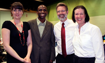 (Left to right): Jen and Olu Jegede with Craig and Linda Crone at the 2010 Community Fundraiser.