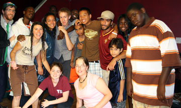 2008 summer Interns with youth.